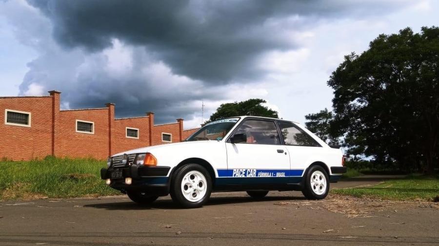 Exemplar do XR3 Pace Car repousa no interior de SP; edição limitada participou do GP Brasil de 1984, estreia de Senna na F1 - Arquivo pessoal