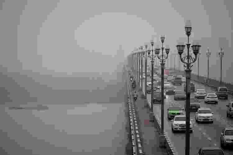A ponte Ninjiang, conhecida como local de muitos suicídios - WANG ZHAO / AFP - WANG ZHAO / AFP