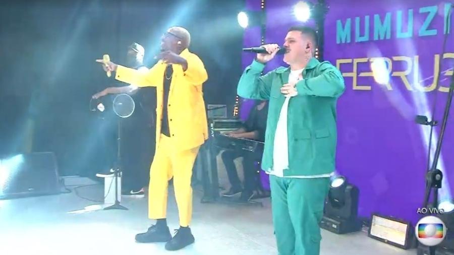 BBB 21: Ferrugem e Mumuzinho fazem show na festa - Reprodução/ Globoplay