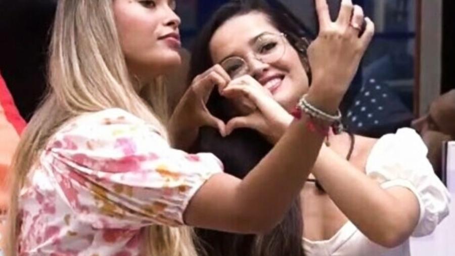 """Sarah e Juliette eram amigas no """"BBB 21"""", mas se afastaram durante o reality show - Reprodução/Globoplay"""