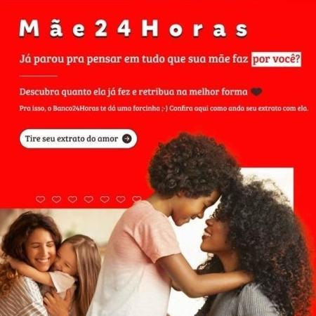 Campanha de Dia das Mães do Banco24Horas - Reprodução