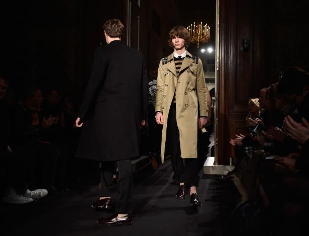 O desfile da grife Valentino foi um dos destaques do primeiro dia da Semana de Moda Masculina de Paris - Getty Images