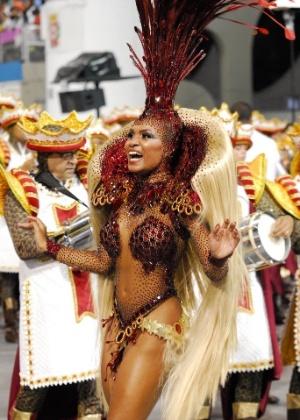 Valeska Reis, rainha de bateria da Império de Casa Verde, campeã do Carnaval de SP