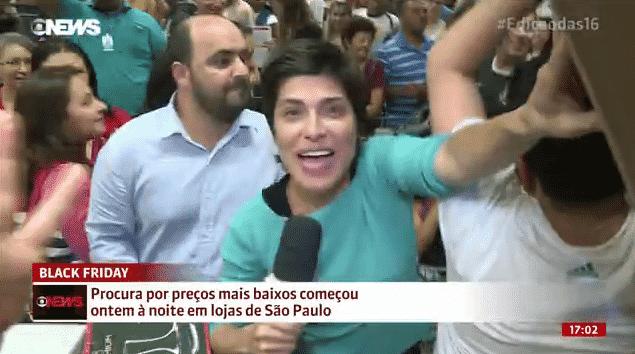 25.nov.2016 - Repórter da Globo News - Reprodução/Globo News