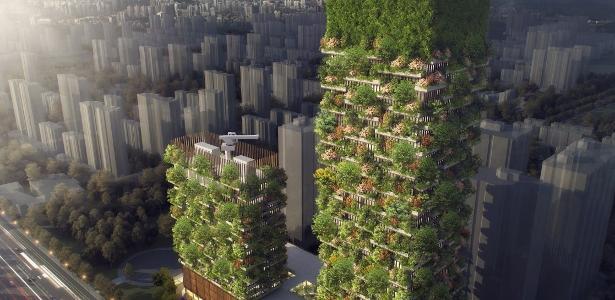 Torres verdes de Nanjing, China