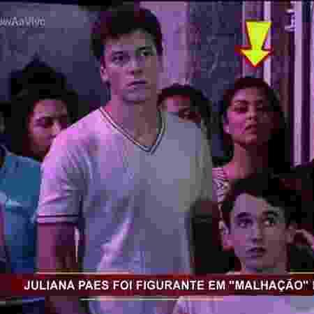"""Juliana Paes aparece como figurante em cena de Rodrigo Faro em """"Malhação"""" - Reprodução/TV Globo - Reprodução/TV Globo"""