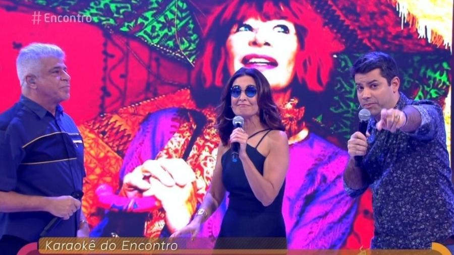 """Fátima Bernardes canta Rita Lee no """"Encontro"""" - Reprodução/Globo"""