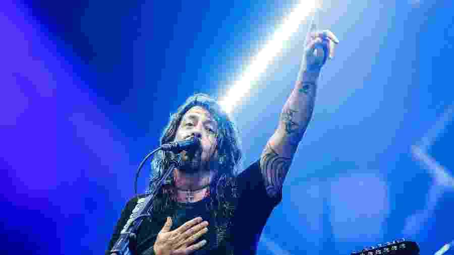 """Dave Grohl, vocalista do Foo Fighters, é carismático e leva o apelido de """"cara mais legal do rock"""" - Lucas Lima/UOL"""