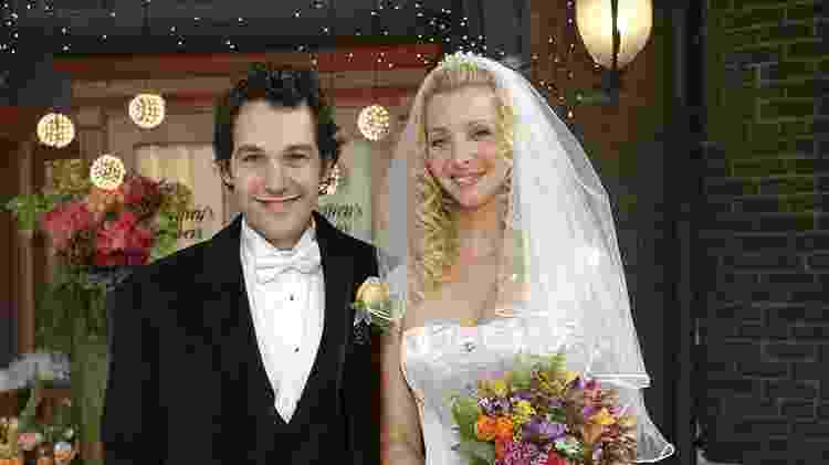 """Paul Rudd foi o par romântico de Lisa Kudrow em """"Friends"""" - Reprodução - Reprodução"""