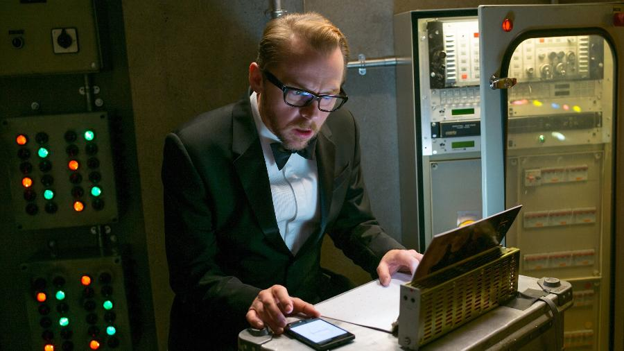 "Simon Pegg em cena no filme ""Missão: Impossível - Rogue Nation"" - David James/Paramount Pictures"