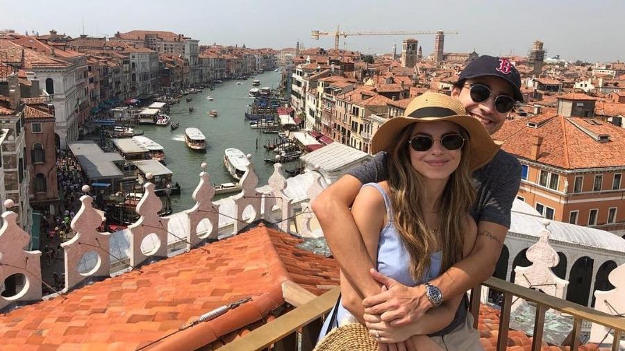 Sthefany Brito com o namorado, em Veneza - Reprodução/Instagram/sthefanybrito