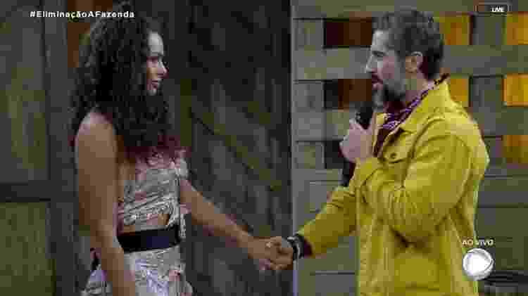 Fernanda e Mion - Reprodução/RecordTV - Reprodução/RecordTV