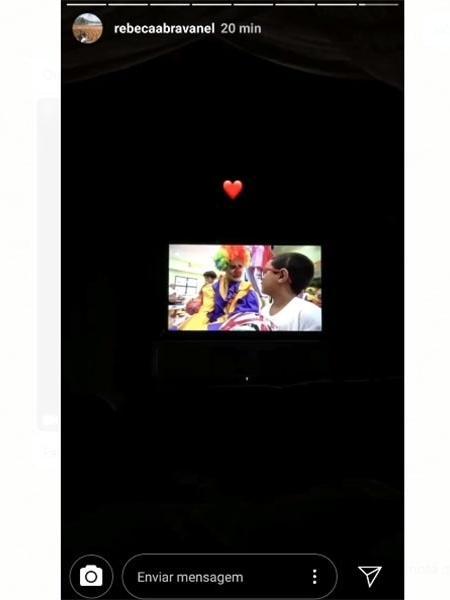 Rebeca Abravanel assiste Pato na TV e comenta com coração - Reprodução/Instagram