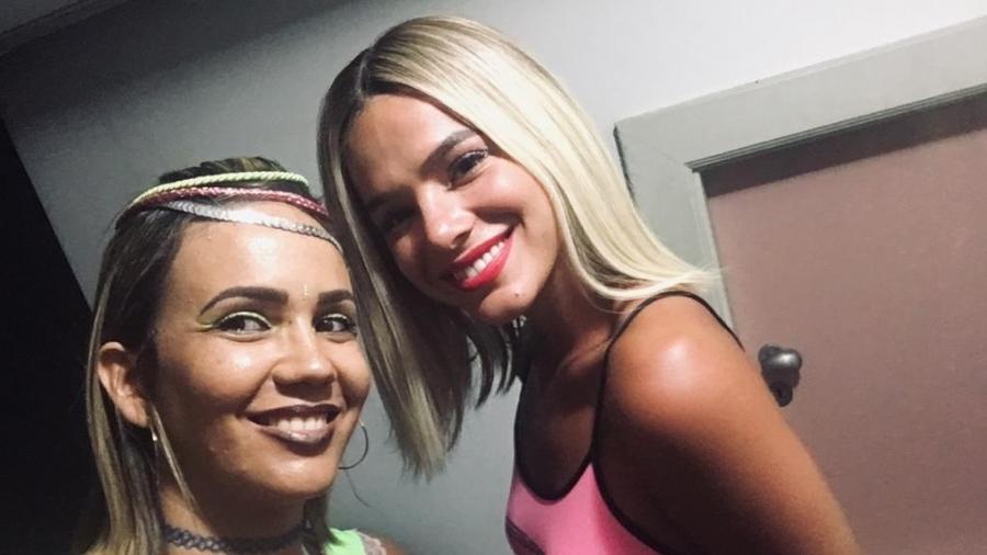 Bruna Marquezine e a fã Ana Paula Ornellas - Arquivo pessoal