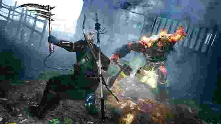 """Kusarigama: a foice com uma corrente era algo especial no primeiro jogo, mas não apareceu na demo de """"Nioh 2"""" - Divulgação"""