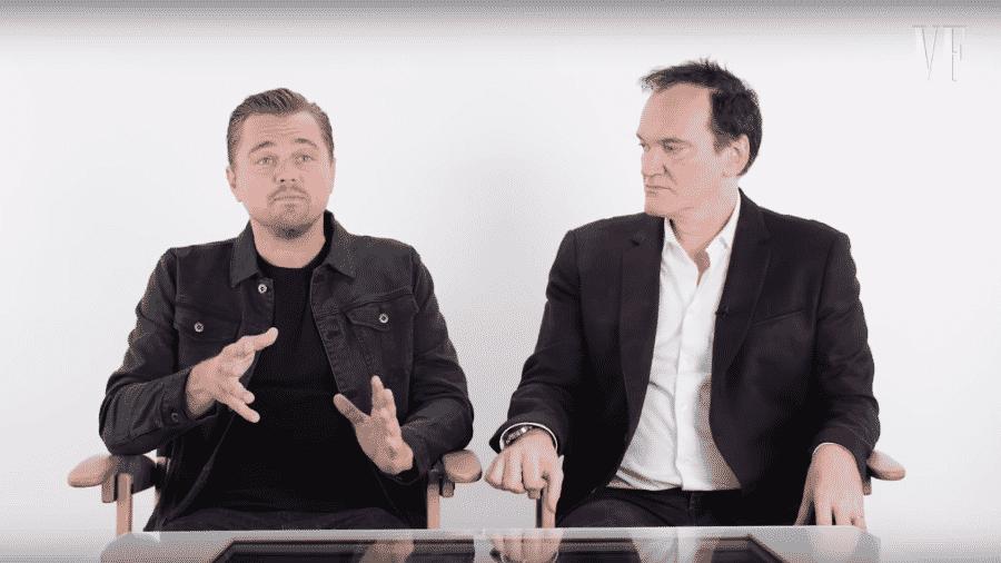 Leonardo DiCaprio e Quentin Tarantino - Reprodução