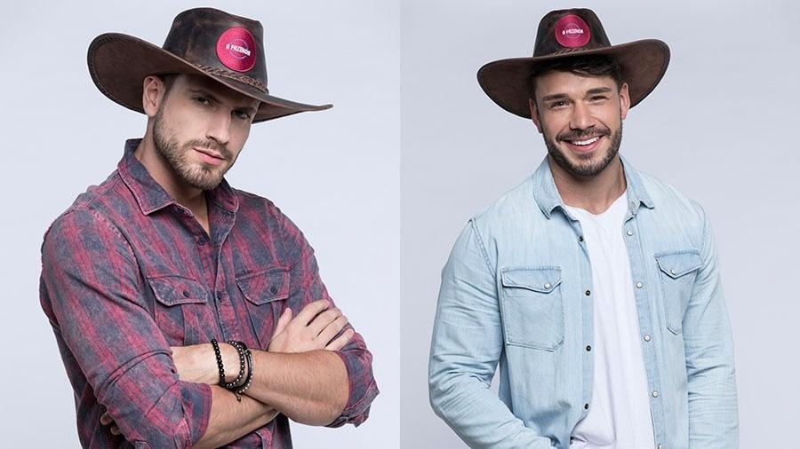 Guilherme e Lucas estão na oitava roça de A Fazenda 2019 - Crédito: Montagem/Antonio Chahestian/ Record TV