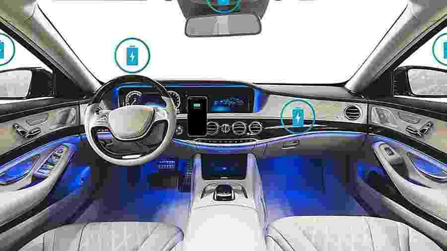 Telefone celular poderá ser carregado de vários locais no carro, afirma a empresa Yank Technologies - Divulgação