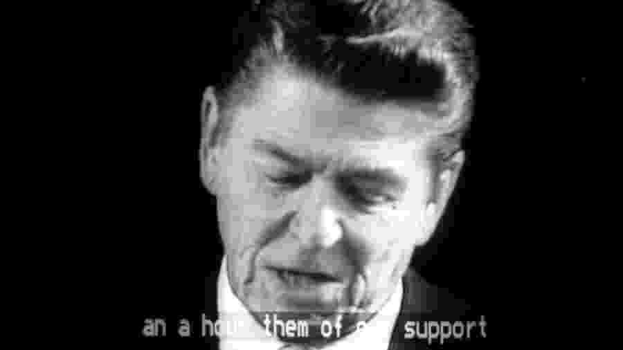 Ronald Reagan, presidente entre 1981 e 1989, marcou início de políticas domésticas de financiamento da educação para a abstinência nos EUA - BBC