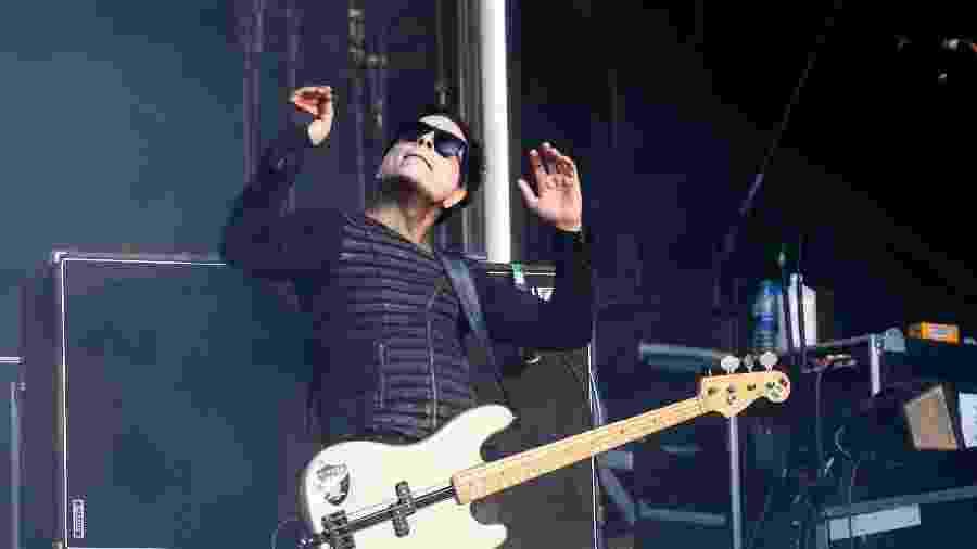 Juan Alderete toca com Marilyn Manson no Aftershock Festival, na California - Getty Images