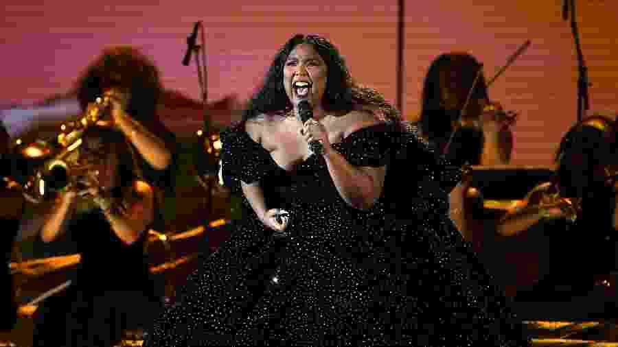Lizzo ganhou três dos oito prêmios aos quais foi indicada no Grammy  - Kevork Djansezian/Getty Images/AFP