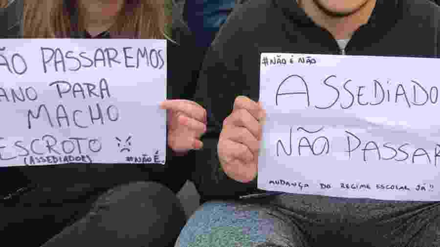 Alunos protestam contra assédio na escola - Arquivo Pessoal