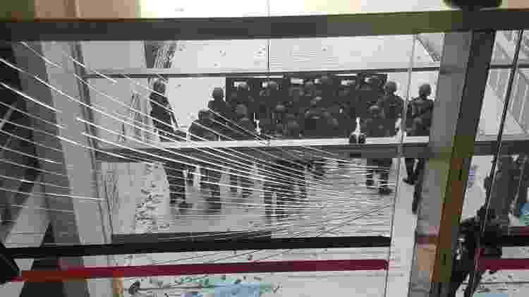 O Batalhão de Polícia de Choque foi chamado durante a votação da reforma da previdência estadual - Iury Carvalho - Iury Carvalho