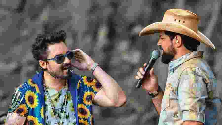 A dupla Fernando e Sorocaba se apresentam em live sertaneja hoje - Reprodução/Instagram/Fernando e Sorocaba