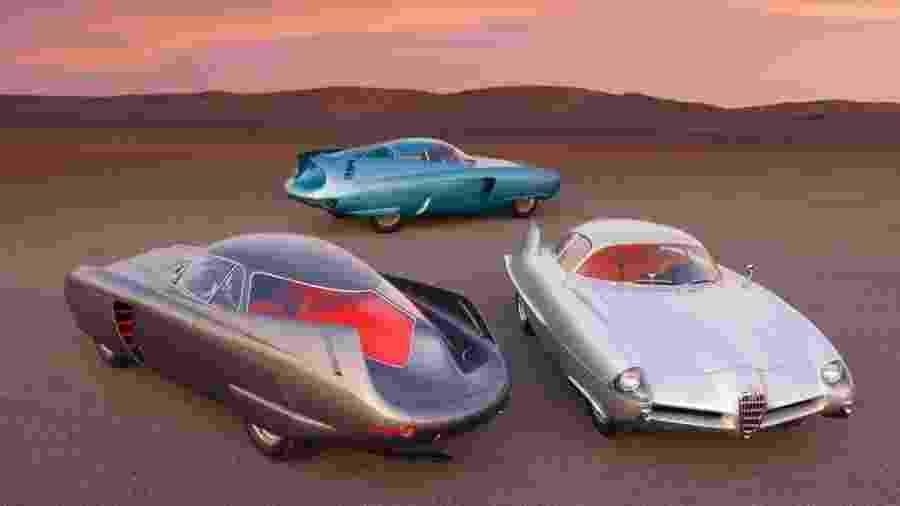 B.A.T. 5, B.A.T. 7 e B.A.T. 9 da Alfa Romeo - Divulgação