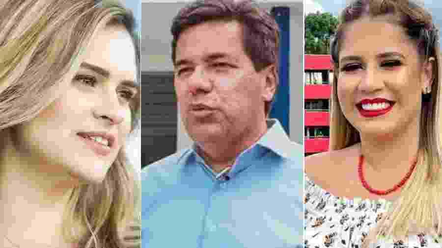 Marília e Mendonça, candidatos à prefeitura de Recife, e Marília Mendonça: qualquer semelhança é mera coincidência - Reprodução/Instagram