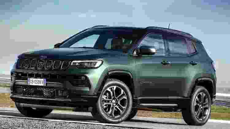 Jeep Compass 2022 Longitude dianteira - Divulgação - Divulgação