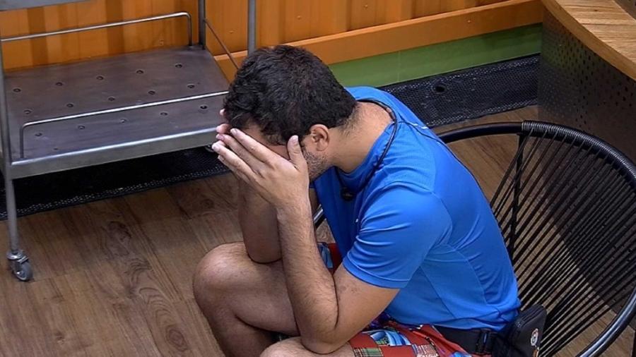BBB 21: Gilberto chora na academia - Reprodução/Globoplay