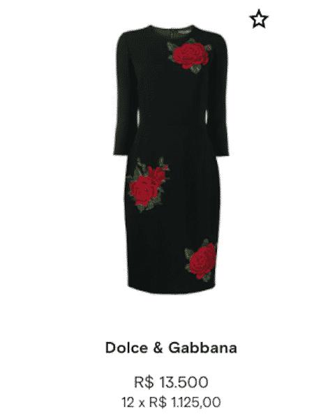 Vestido de Marília Mendonça é da grife italiana Dolce & Gabbana - Reprodução - Reprodução
