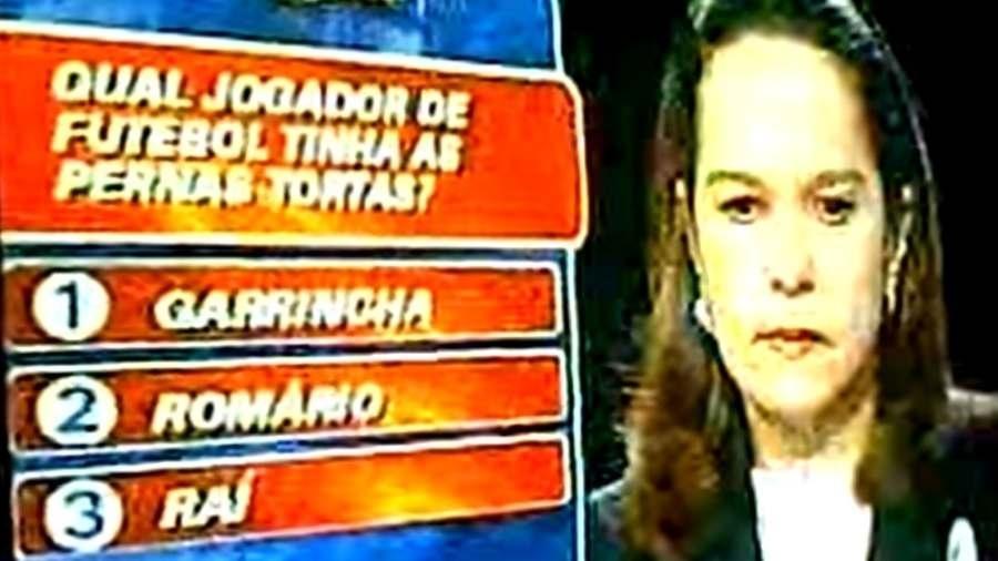 """A baiana Ana Lúcia Serbeto participou do """"Show do Milhão"""" em 2000 - Reprodução/YouTube"""
