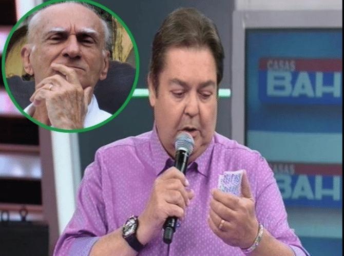 18.out.2015 - Faustão manda recado para Ariano Suassuna