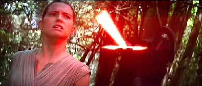 A personagem Rey em cena do filme