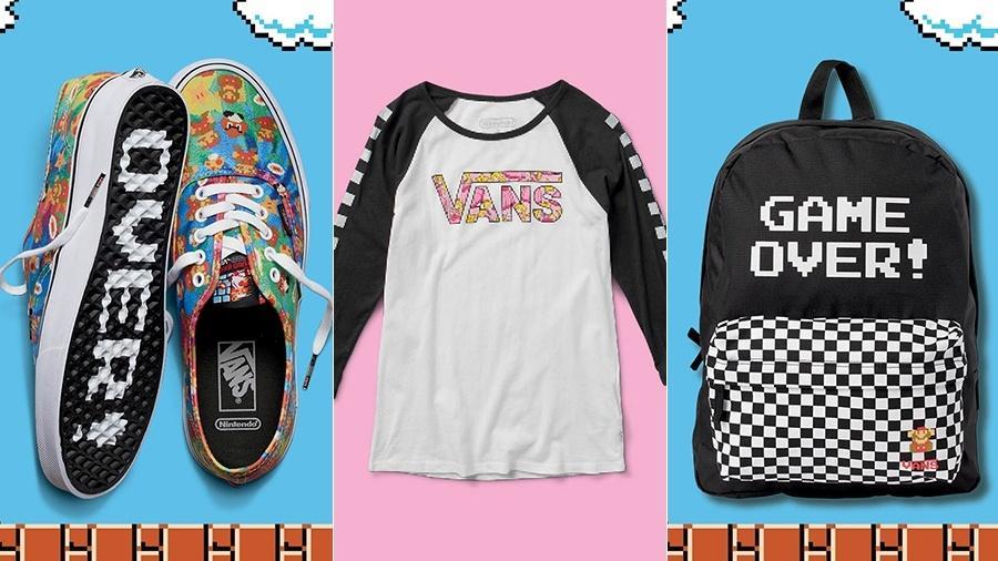 c941c57067 Vans e Nintendo criam linha de moda inspirada nos games 8-bit Imagem   Divulgação