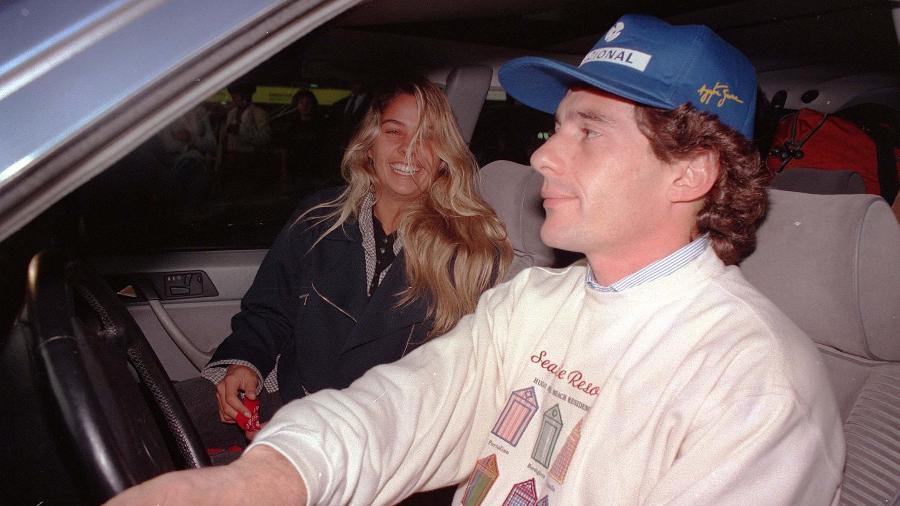 Ayrton Senna e Adriane Galisteu em 1993 - Matuiti Mayezo/Folhapress