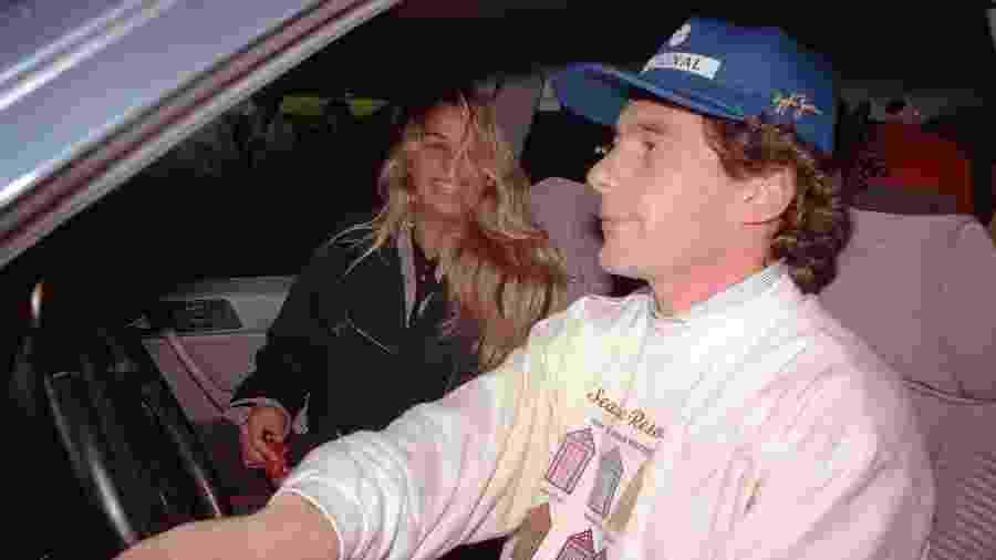 Senna e Galisteu namoravam quando ele morreu em acidente, em maio de 1994 - Matuiti Mayezo/Folhapress