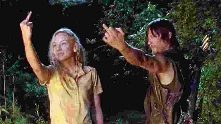 """Beth e Daryl mostram como lidar com a enrolação de """"The Walking Dead"""" - Reprodução/AMC"""