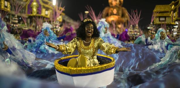 27.fev.2017 - Maior campeã do Carnaval carioca, com 21 campeonatos, a Portela desfila