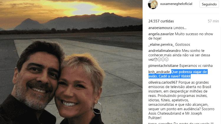 Foto de Xuxa com Junno rende pedido de emprego e pergunta inusitada - Reprodução/Instagram - Reprodução/Instagram