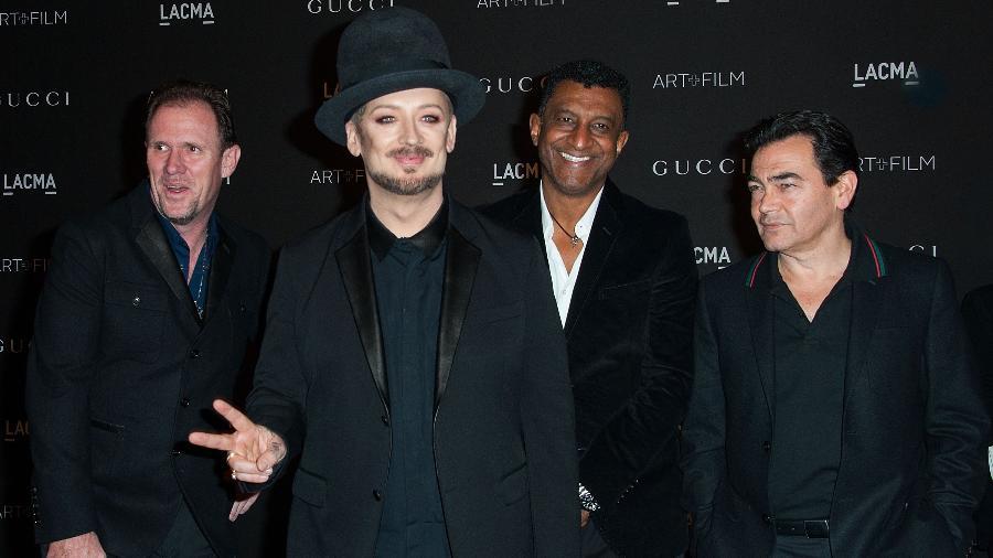 Boy George e os membros do Culture Club durante evento em Los Angeles - Valerie Macon/AFP