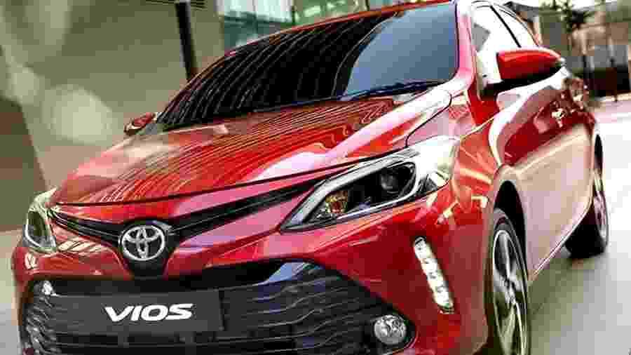 Acima o novo Toyota Vios para o mercado da Tailândia - Divulgação