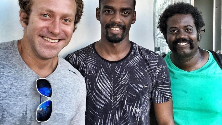 Sérgio Hondjakoff, Raphael Logam e Leandro Firmino gravam nova série da Fox - Reprodução/Instagram/raphaellogam