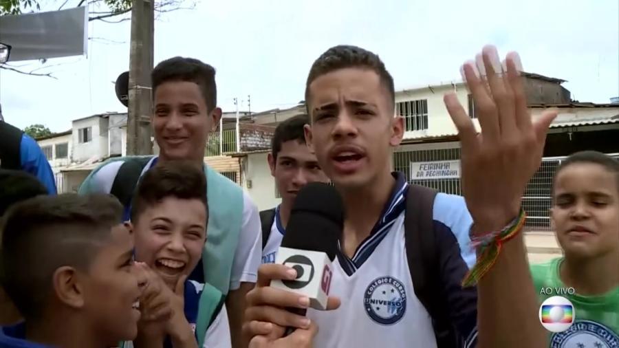 """Estudante """"trolla"""" repórter da Globo em Pernambuco - Reprodução/TV Globo"""