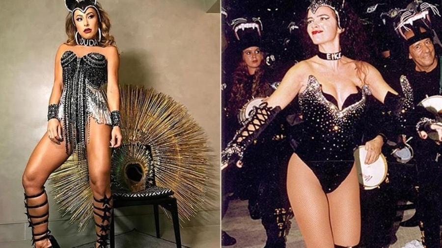 Sabrina Sato lembrou figurino de Luma de Oliveira no Carnaval de 1998 - Divulgação/Instagram/Otávio Magalhães/Estadão Conteúdo