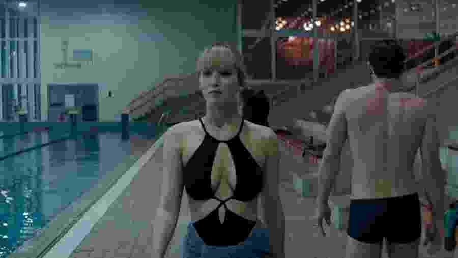 """Jennifer Lawrence em cena de """"Operação Red Sparrow"""" - Reprodução"""