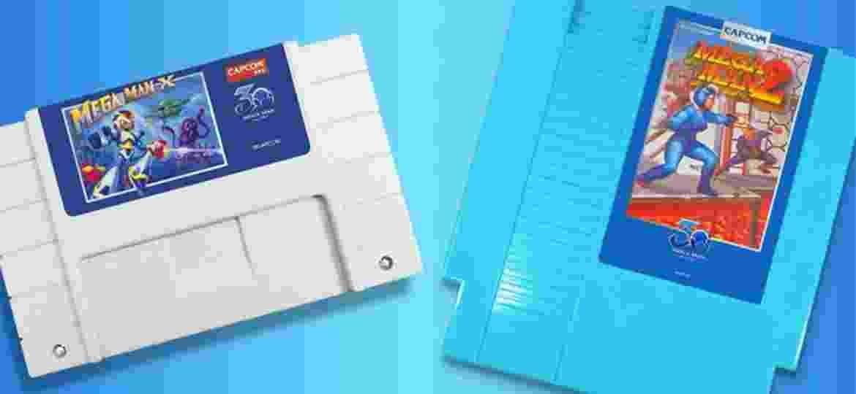 Novos cartuchos de Mega Man X (SNES) e Mega Man 2 (NES) - Reprodução