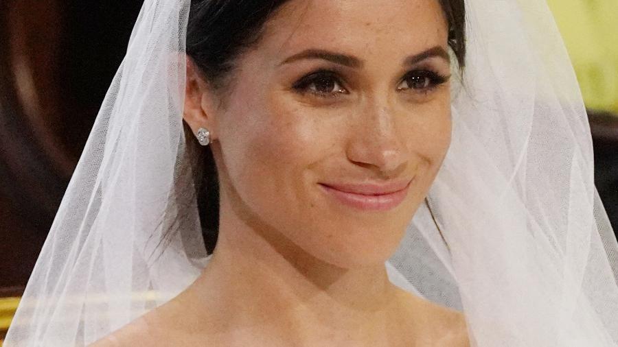 Sardas de Meghan Markle ficam em evidência durante casamento real - Jonathan Brady/AFP